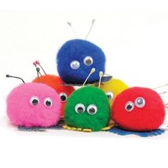 These little fuzzy puffball thingies with eyes and felt feet.