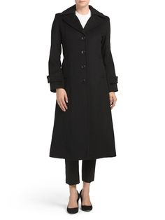 Wool Blend Long Swing Coat