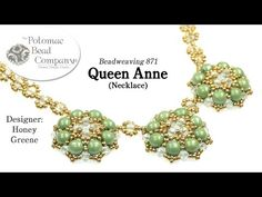 Make a Queen Anne Necklace - YouTube bead weaving tutorial/pattern, all supplies from www.PotomacBeads.com