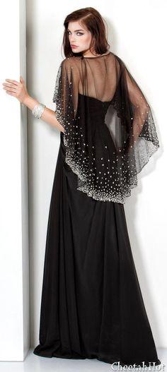 JOVANI - Authentic Designer Dress Draped Chiffon Gown