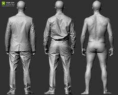 Hi, Having been a long time ZBrush artist in the Games/VFX industry, one thing that frustrated me was the lack of decent reference for clothes/wrinkles. Spending many hours trying to recreate convincing folds and materi… Zbrush Character, Character Modeling, 3d Modeling, Body Anatomy, Human Anatomy, Anatomy Reference, Pose Reference, Anatomy Poses, Modelos 3d