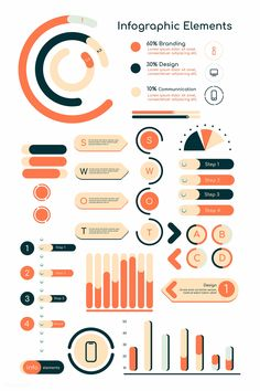 kenbaolocpro infographic rawpixelcom collection elements premium orange design vector image by Orange infographic design elements vector collection premium image by kenbaolocproYou can find Vector design and more on our website Graphic Design Layouts, Graphic Design Posters, Graphic Design Inspiration, Layout Design, Design Design, Design Ideas, Chart Design, Life Design, Stock Design
