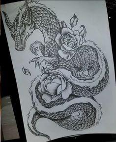 33 Dragon and Rose Tattoo - 33 Dragon and Rose Tattoo buy full arm temporary tattoo arm dragon skull peony peony designs waterp - Dragon Tattoo Drawing, Dragon Thigh Tattoo, Dragons Tattoo, Dragon Tattoo For Women, Dragon Tattoo Designs, Tattoos For Women, Dragon Drawings, Back Tattoo Women Full, Dragon Sleeve Tattoos