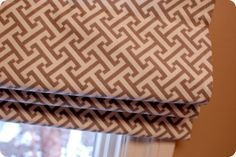 How to Sew a Roman Shade. This is a much better tutorial than the Martha Stewart one I'd been following.