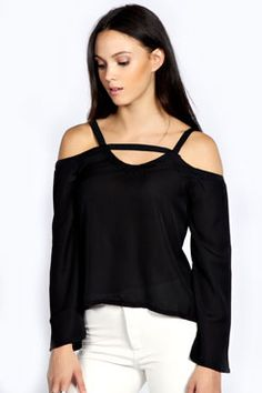Isla Cut Out Detail Blouse at boohoo.com