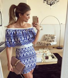 {Sunday } De @lojasolerio Conjunto azul mais LINDOOO Estou apaixonada! A loja envia para todo o Brasil viu meninas?! • #lookdodia #lookoftheday #ootd #selfie #blogtrendalert