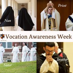 November 6-12 is National Vocation Awareness Week! Let us thank God for our wonderful religious and priests, and pray that more young men and women may respond generously to His gift of a vocation.