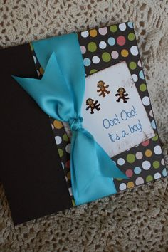 Jungle Monkey Baby Shower Invitation in Blue and Brown by idobliss, $5.00