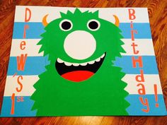 Custom Little Monster Birthday Photo Booth Bag Toss Party Game  *you design!* FREE PERSONALIZATION 35x44 1 Person Booth