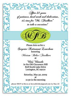 Retirement Party Ideas  Retirement Party Invitations Invitations