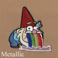 This Gnome Patch - Gravity Falls is just one of the custom, handmade pieces you'll find in our patches shops. Cute Patches, Pin And Patches, Iron On Patches, Gravity Falls, Quilt Pattern, Cool Pins, Embroidery Patches, Pin Badges, Gnomes