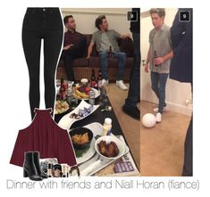 """""""dinner with friends and niall (fiance)"""" by jk-jaylene ❤ liked on Polyvore featuring Topshop, Samsung, W118 by Walter Baker, Smashbox and rag & bone"""
