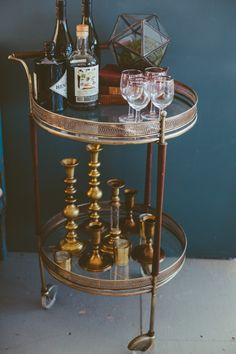 Baby's got Brass Bar Cart | Patina #Party #event #Decor