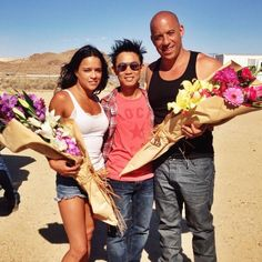 Vin & Michelle Rodriguez at the wrap party of Fast & Furious 7.