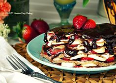 Chocolate Crêpes filled with Strawberries and Bananas from @Sandra @SECooking