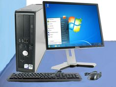 FAST DELL CHEAP DESKTOP PC COMPUTER 1GB, 40GB WINDOWS 7 + MONITOR PACKAGE