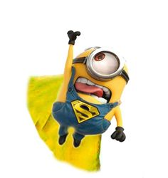 Minions want to be superheroes too! :)