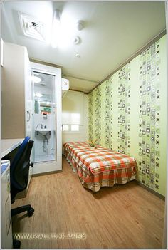Hi Guesthouse- 440k KRW  Rooms are included with private bathroom and shower. Rooms without sunlight starts from 440USD. Rooms with sunlight starts from 520USD.