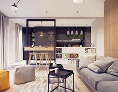 Flat interior designed by PLASTE[R]LINA