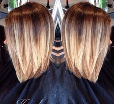 Short balayage ombre:
