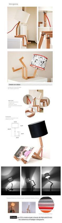 Lámpara Velador De Mesa Escritorio Articulada! Mv Muebles - $ 1.099,00
