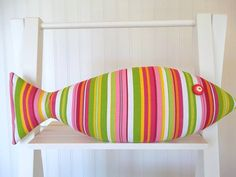 Seaside Decor  Pink and Green Pillow  Girls by CatherinePicone, $21.00
