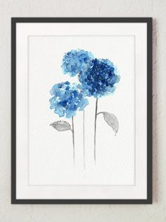 Hydrangea Set of 3 Watercolor Paintings. Abstract Blue Flowers Poster. Botanical Home Garden Wall Decor. Flower Giclee Fine Art Print. Hydrangea Artwork Room Decor. A price is for the set of 3 diffrent Hydrangea Art Prints. Type of paper: Prints up to (42x29,7cm) 11x16 inch size are printed on Archival Acid Free 270g/m2 White Watercolor Fine Art Paper and retains the look of original painting. Larger prints are printed on 200g/m2 White Semi-Glossy Poster Paper. Colors: Archival hi...