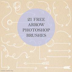 free arrow photoshop brushes!