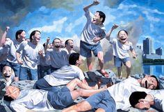 yue minjun freedom leading the people