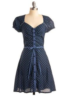 Cute Fit and Flare with Polka Dots