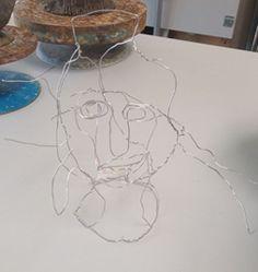 Working with wire - Portrait