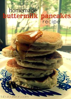 Best Buttermilk Pancake Recipe (fluffy old fashioned recipe)