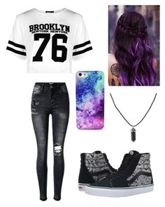 """Untitled #9"" by aepilling ❤ liked on Polyvore featuring Boohoo and Vans"