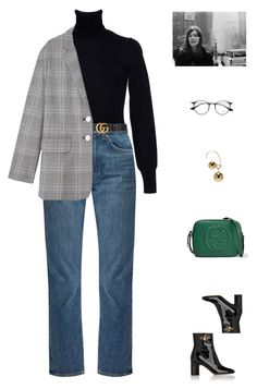 """""""Georgia //"""" by prayingtosaintlaurent ❤ liked on Polyvore featuring Gucci, Alaïa, Brock Collection, TIBI, Maison Margiela and Ray-Ban"""