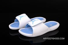 7ef1d40fc652 Air Jordan Hydro 6 Sandals 881473-1078 Blue White Men New Style