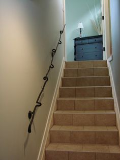 unique staircase railing - Google Search