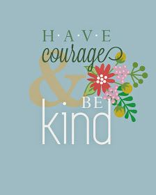 Have Courage and Be Kind Cinderella printable