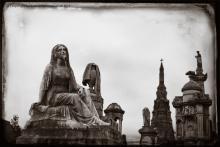 Broken lady from Glasgow Necropolis
