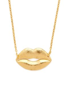 GOLD LIPS PENDANT