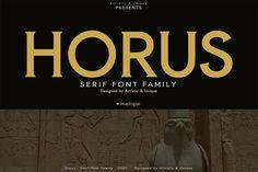 Horus - Serif Font Family by Artistic & Unique Best Serif Fonts, Modern Serif Fonts, Handwritten Fonts, Typography Fonts, Fancy Fonts, Cool Fonts, Paint Font, Tattoo Fonts Cursive, Stylish Fonts