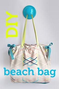 DIY Video Tutorial & free beach bag pattern by pattydoo