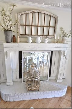 Vintage Country Farmhouse Style. Farmhouse dining room. Chippy window…
