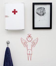 menino anjo. adesivo de parede infantil. Criado por Gabriela Rocha.