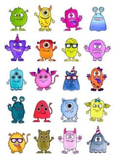 Your little monsters will absolutely love the Misfit Monsters set! The set incudes 4 different monster bodies, and a huge array of elements you can then add onto them, su Kids Birthday Cards, Handmade Birthday Cards, Valentine Cards To Make, Monster Clipart, Monster Pictures, Hero Crafts, Aliens, Hunkydory Crafts, Monster Drawing