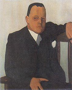 Paul Citroen 1896-1939 portret van Menno ter Braak, 1939