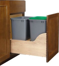 Homeowners will have to start recycling more. This kitchen draw can clean up the eventual hundreds of bins that will be required for our recycling.