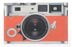 Capacho Câmera Fotográfica Laranja 60x40 Cm - Kapazi