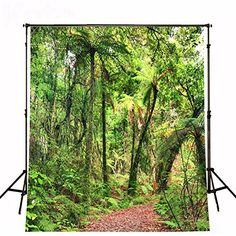 Rainforest Scenic Backdrops Red Maple Leaf Jungle Trail Background Tall Trees Green Leaves Digital Studio Background for Studio Spring Photography, Stunning Photography, Scenic Photography, Photography Backdrops, Product Photography, Digital Photography, Wedding Photo Background, Background For Photography, Photography Backgrounds