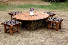 Outdoor Tables, Outdoor Decor, Outdoor Furniture, Home Decor, Wedding Decoration, Recycling, Decoration Home, Room Decor, Interior Design