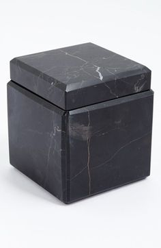Waterworks Studio 'Luna' Black Marble Covered Jar - Black (Online Only) Marble Jar, Marble Stones, Decorative Accessories, Home Accessories, Console Table, Marble Furniture, Nordstrom, Waterworks, Diy Home Decor On A Budget